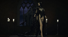 An Omen (Diavkha) Tags: goth gothic horror dark male femboy girlyboy trap drag fantasy prince crow secondlife second life avatar photography androgynous