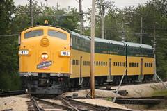 Like Old Times (Railfan Dan) Tags: cnw chicagoandnorthwestern cnw411 cnwbilevels irm illinoisrailwaymuseum dieseldays2019 f7