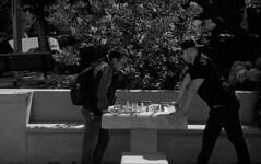 Your move (bingley0522) Tags: leicaiiic zeissjenasonnar50mmf15ltm trix hc110h epsonv500scanner sanfrancisco yerbabuenagardens chess autaut