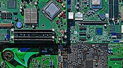 Cyber City (Ciceruacchio) Tags: computer cybernetics cybernétique algorithm processor processeur motherboard cartemère graphiccard cartegraphique soundcard carteson nikond750