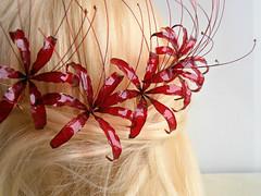 Higanbana (vasilevanastyus) Tags: higanbana lycoris radiata handmade japanese flower hair pin resin epoxy