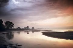 After the Thunderstorm (Bernd Schunack) Tags: thunderstorm heavy violent storm baltic sea niendorf beach water ocean trees clouds dramatic red sky light sunset rain ebb sandbank sand bank reflection summer panasonic lumix wohlenbergerwiek