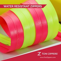 Water Resistant (waterproof) Zippers (tonizippers) Tags: tonizippers manufacturers manufacturer waterproof neon color industries zip zippers bestzipper branding sliders fasteners forthefirsttime business india rain strength cfc