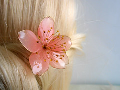sakura (vasilevanastyus) Tags: handmade sakura flower hairpin pandastudioshop cherry blossom kanzashi epoxy resin etsy