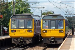 Northern 142046 & 142014 (Mike McNiven) Tags: arriva railnorth northern pacer dmu diesel multipleunit sandal agbrigg sandalandagbrigg sheffield leeds