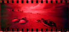 2393 Gone for a Paddle (Monobod 1) Tags: panoramic vista 135 agfa ondu lensless bellini 20050 redscale epsonv800 pinhole c41