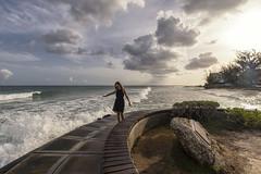 Poseidon (mystero233) Tags: poseidon sea rought storm waves foam sky clouds sun sunset dusk evening hastingsrocks hastings barbados island caribbean girl smile fun outdoor landscape sunlight holiday