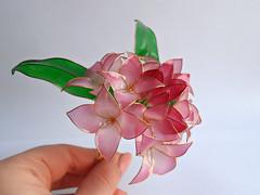 Daphne odora (vasilevanastyus) Tags: daphne odora hairpin kanzashi handmade resin epoxy pink flowers natural style