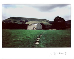 Thursday 15th August (ronet) Tags: fuji thursdaywalk barn edale field film instantfilm instax instax500af kinderscout pasture peakdistrict scanned utata utata:project=tw695