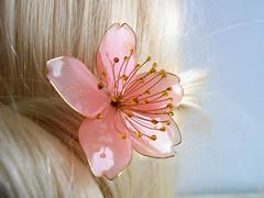 sakura (vasilevanastyus) Tags: handmade sakura flower hair pin pandastudioshop cherry blossom kanzashi epoxy resin etsy