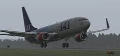 b738 - 2019-08-16 03.11.33 (Rell Brown) Tags: scandinavian airlines boeing 737800 737ng xplane xp11 fsx flight fs2004 fs9 skelleftea sweden