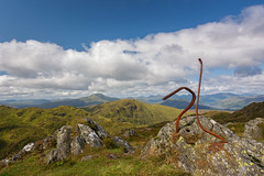 Twisted (Douglas Hamilton ( days well spent )) Tags: ben venue summit hills mountains scotland central highlands trossachs hiking walking twisted railings iron douglas hamilton nikon uk clouds summer lomond loch katrine