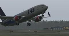 b738 - 2019-08-16 03.12.09 (Rell Brown) Tags: scandinavian airlines boeing 737800 737ng xplane xp11 fsx flight fs2004 fs9 skelleftea sweden