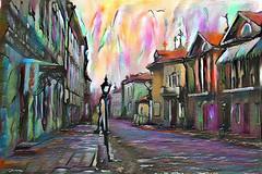 Lens & Brush 7 (V_Dagaev) Tags: art architecture building street town city digital dynamicautopainter visualdelights painterly painting