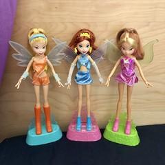Winx Flutter Dolls Mattel (Sakura MoonlightCandyAngel) Tags: flora bloom stella mattel dolls flutter winx