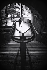 Man on stairs (paulbnashphotography (ARPS)) Tags: paulbnash paulbnashphotography street streetphotography streetphoto streetlife blackandwhite blackandwhitephotography blackandwhitephoto urban urbanphotography whiteandblack whiteandblackphotography whiteandblackphoto london londonbaby londonphoto londoncitycapital londoncity silhouette rails rail stairs