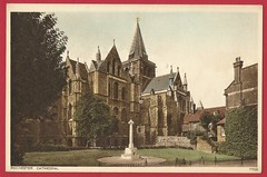 Photo of Rochester Cathedral, Kent. Photochrom postcard c.1920's.