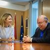 La portavoz del GPP en el Congreso, Cayetana Álvarez de Toledo, se reúne con el embajador Antonio Ecarri, enviado especial del Presidente Encargado de Venezuela, Juan Guaidó. (16/08/2019)