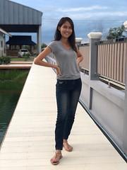 portrait (ChalidaTour) Tags: thailand thai asia asian girl femme fils chica nina teen twen portrait sweet cute petite slender outside public jeans