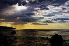 Gloomy morning (prokhorov.victor) Tags: утро природа пейзаж море небо облака берег