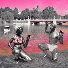 it is not allowed to swim in the lake. so they practice some yoga #digitalart #collage #sculpture #adobesketch #budapest #gaumbart #contemporary (MarkusBaumgartner) Tags: digitalart collage sculpture adobesketch budapest gaumbart contemporary