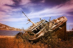 Shipwreck (corineouellet) Tags: ocean travel greece mykonos canonphoto abandoned focus details color hdr naufrage bateau boat ship shipwreck nature