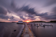 Clouds (jarnasen) Tags: fuji xt20 xf1024mmf4 tripod longexposure landscape landskap le sweden sverige scandinavia sky sun sunset nordiclandscape pier pov ultrawideangle outdoor billdal seascape sea ocean view nature geo geotag copyright järnåsen jarnasen jetty water mood evening nisi nd1000 ndfilter color