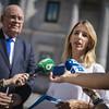 Declaraciones a los periodistas de Cayetana Álvarez de Toledo y el embajador Antonio Ecarri (enviado especial del Presidente Encargado de Venezuela, Juan Guaidó). (16/08/2019)
