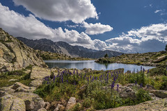 Estanys d'Ensagents, Pyrenees (StarCitizen) Tags: andorra pyrenees mountains landscape clouds sky summer sunny lake water