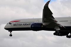 G-XWBA A350-1041 British Airways (eigjb) Tags: london heathrow airport egll lhr jet transport airliner aviation aircraft airplane plane spotting 2019 aeroplane gxwba a3501041 airbus a350 british airways wing