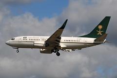 HZ-MF1 Boeing 737-7 (BBJ) - Kingdom of Saudi Arabia (eigjb) Tags: london heathrow airport egll lhr jet transport airliner aviation aircraft airplane plane spotting 2019 aeroplane hzmf1 boeing bbj 737 b737700 saudi arabia government saudia ministry finance kingdom