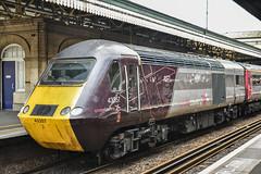 43357+384, Exeter St. David's (JH Stokes) Tags: crosscountrytrains hst highspeedtrain class43 43357 trains trainspotting tracks transport railways locomotives photography publictransport exeterstdavids decon devon