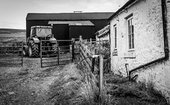 Harwood . (wayman2011) Tags: colinhart fujifilmxpro1 fujifilmxf35mmf2 lightroom5 wayman2011 bw mono rural farms tractors pennines dales teesdale harwood countydurham uk