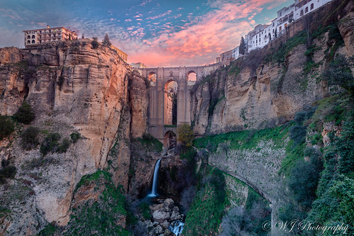 Cliff Town of Ronda at sunrise