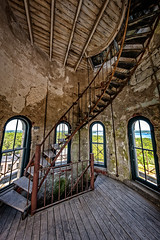 Going up! (Frank C. Grace (Trig Photography)) Tags: fallriver massachusetts unitedstatesofamerica bedfordstreet abandoned historic history watertower tower spiral stairs hdr nikon d850 newengland urbex urbanexploration watertank rusty rust crusty granite on1pics highdynamicrange photography frankcgrace trigphotography standpipe north watuppapond pressurereliefvalve spindlecity dpw departmentofpublicworks waterworks northwatuppapond
