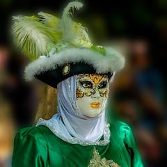 Carnaval  Vénitien (musette thierry) Tags: carnaval venitien mouscron belgium belgique portrait musette thierrry vert green
