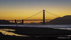 Sunset - Golden Gate Bridge (Bob Gunderson) Tags: california northerncalifornia palaceoffinearts sanfrancisco sunset goldengatebridge crissyfield sanfranciscobay