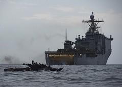 USS Harpers Ferry (LSD 49) conducts amphibious operations. (Official U.S. Navy Imagery) Tags: uscentcom navcent usnavy unitedstatesnavy ussharpersferry forgedbythesea sailors lsd49 amphibiousdocklandingship lsd harpersferryclass underway ussboxeramphibiousreadygroup arg us5thfleet deployment gulfofaden