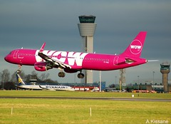 WOW AIR A321 TF-PRO (Adrian.Kissane) Tags: outdoors sky aviation ireland flight flying landing arriving airport airliner airline jet plane aircraft airbus aeroplane 7680 1822019 a321 tfpro dublin dublinairport wow