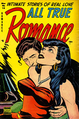 All True Romance #10 (1953), cover by A.C. Hollingsworth (gameraboy) Tags: alltrueromance 10 1953 cover achollingsworth 1950s vintage romance romancecomics comics comicbook comicbookart art illustration woman