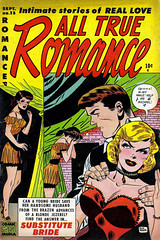 All True Romance #13 (1953), cover by Don Heck (gameraboy) Tags: alltrueromance 13 1953 cover donheck 1950s romance woman vintage comics comicbook comicbookart art illustration