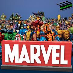 Marvel Logo (Playwell Bricks) Tags: lego legotechniques legoideas legophotography legopictures legoart toys toyphotography art design marvel comics