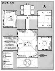 Secret Lab map (gameraboy) Tags: art illustration vintage comics map gaming rpg roleplayinggame drdoom secretlab denniskauth
