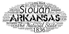 Arkansas (Ben Taylor55) Tags: arkansas siouan the natural state bear 1836 little rock central fort smith fayetteville springdale jonesboro tag tags tagcloud word words wordcloud