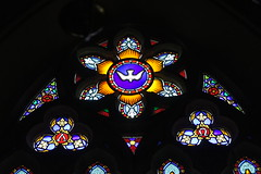 St Mary's Church, Brownsea Island, Poole Harbour, Dorset (Alwyn Ladell) Tags: dorset bh137ee poole pooleharbour brownseaisland brankseaisland stmaryschurch churchofengland anglican edwardbaillie georgemayer stainedglasswindow
