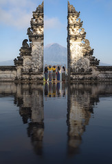 Heaven gate and lempuyang temple (anekphoto) Tags: reflection asia indonesia sunrise jump relaxation stones vacation lady tourist summer girl holidays happy traveler traditional india sun happiness temple lempuyang pura gate heaven hindu architecture bali woman spirit life silhouette spirituality sky entrance travel culture outdoor hinduism ancient asian sitting open god meditation calm meditate buddhism health start copyspace