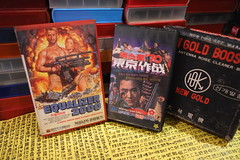 """Seoul Korea vintage VHS covers for cult B-epic """"Equalizer 2000"""" (1987) and rare Korean domestic thriller """"Tokyo Expo 70"""" (1970) - """"End of Days"""" (moreska) Tags: seoul korea vintage vhs cover art retro cult action equalizer2000 1987 guns postapocalypse bmovie grindhouse ripoff adventure weapon tokyoexpo70 rare obscure domestic kidnap two koreas plot intrigue north graphics fonts hangul antenna booster boxart design collectibles archive museum rok asia"""