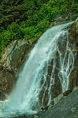 The Lowell Creek Waterfall (http://fineartamerica.com/profiles/robert-bales.ht) Tags: alaska forupload haybales people photo places scenic waterfall anchorage water adventure woods nature forest outdoor wild landscape travel seward highway tourism usa america summer vacation mountain view farnorth lowellcreekwaterfall spay beautiful walking spectacularview outdoors landmark wet famous national steam waterfalls sprayed photography robertbales