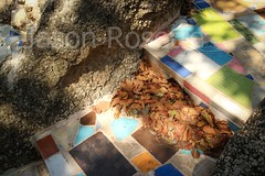 Abstract colored tile stairway near Thai / Burma border (jasonrosette) Tags: camerado jrosette jasonrosette asia thailand travel destination rock stairway surreal outdoor exterior contrast abstract dreamy burma stone color tiles monastery thai colorful pattern arrangement