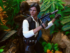 I've been here before..., (Blondeactionman) Tags: bamhq diorama doll photography playscale one six scale hottoys star wars han solo chewbacca